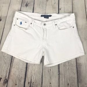 Ralph Lauren Sport White Jean Denim Shorts Size 30